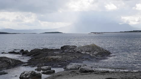 Ireland-County-Galway-Rocks-With-Rising-Water-At-Mid-Tide