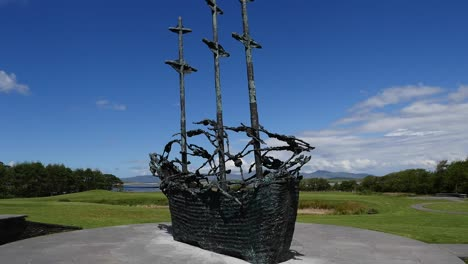 Ireland-County-Mayo-Coffin-Ship-Sculpture