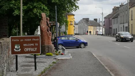 Ireland-County-Offaly-Sign-And-Traffic-In-Banagher