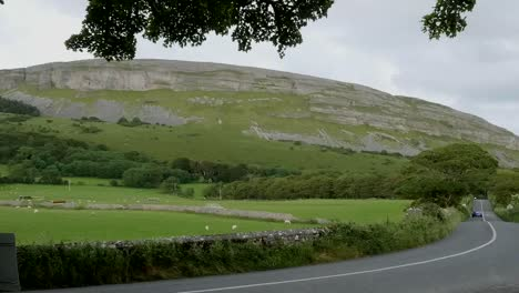 Ireland-County-Sligo-A-Car-Passes-Knocknarea
