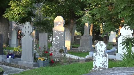 Ireland-County-Sligo-Tombstones-In-The-Drumcliff-Cemetery-Zoom-In