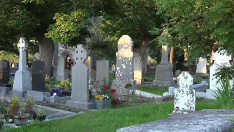Ireland-County-Sligo-Tombstones-In-The-Drumcliff-Cemetery