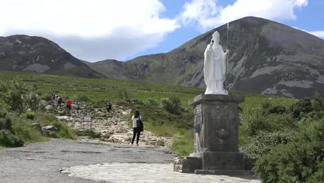 Ireland-Croagh-Patrick-A-Woman-By-Path-Up-Mountain-Pan