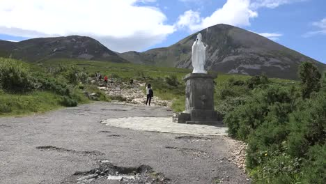 Ireland-Croagh-Patrick-A-Woman-By-Path-Up-Mountain
