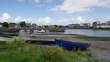 Ireland-Galway-Bay-Boat-By-The-Shore-Of-The-Bay