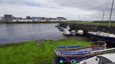 Ireland-Galway-Bay-With-Boats-And-Houses-Beyond