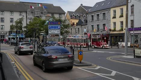 Ireland-Galway-City-Cars-On-A-Busy-Street