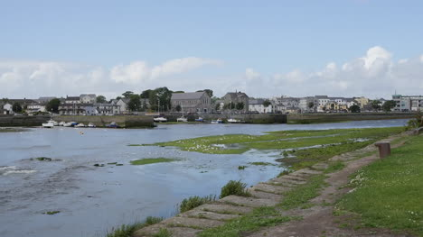 Ireland-Galway-City-Houses-On-A-Bank-Opposite-The-Tidal-Stream