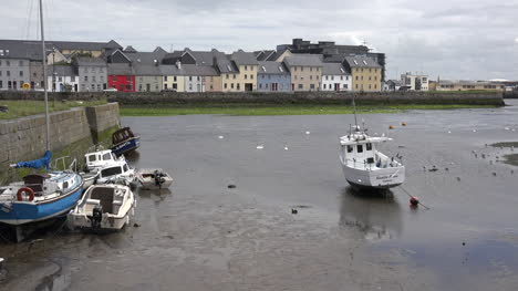 Ireland-Galway-City-Boats-At-Low-Tide