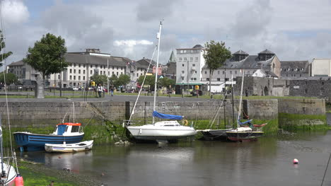 Ireland-Galway-City-Boats-Moored-By-Stone-Dock