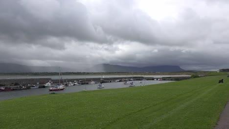 Ireland-Mullaghmore-Rain-Over-Ben-Bulbin-Time-Lapse-