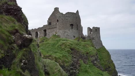 Northern-Ireland-Dunluce-Castle-On-Cliff-Above-Sea