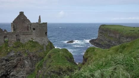 Northern-Ireland-Dunluce-Castle-On-Cliff-Over-Sea