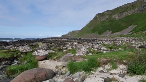 Northern-Ireland-Giants-Causeway-Coastal-View-With-Rocks-And-Grass