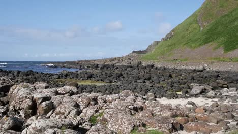 Northern-Ireland-Giants-Causeway-Different-Colored-Shore-Rocks