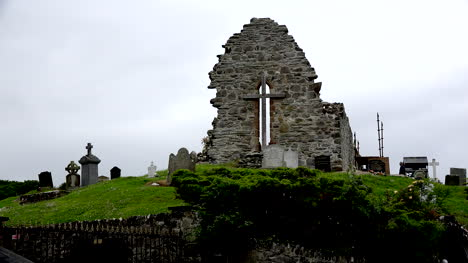 Northern-Ireland-Ruined-Church-And-Cemetery