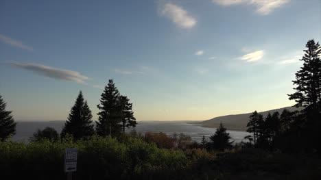 Canada-New-Brunswick-Pan-To-Sun-And-Trees