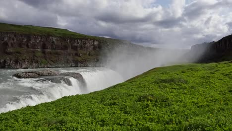 Iceland-Gullfoss-Waterfall-Falls-Over-Edge