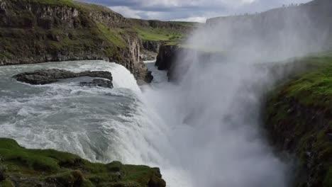 Iceland-Gullfoss-Waterfall-Mist-In-Gorge