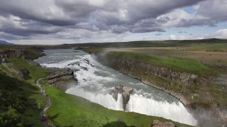 Iceland-Gullfoss-Waterfall-Overview