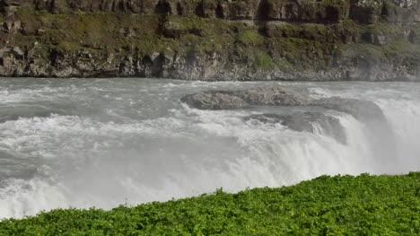 Iceland-Gullfoss-Waterfall-Water-Over-Edge-Pan