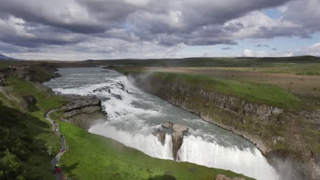 Iceland-Gullfoss-Waterfall-With-Path