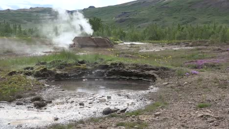 Iceland-Haukadalur-Geyser-Basin-With-Pool