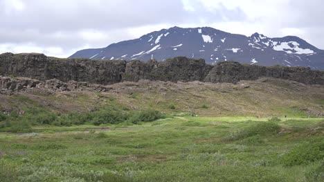 Iceland-Pingvellir-Fault-Scarp-On-Plate-Boundary