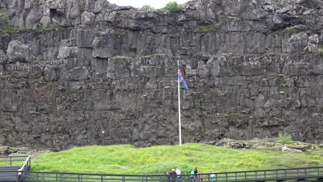 Iceland-Pingvellir-Law-Rock-At-Volcanic-Rift