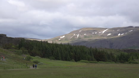 Iceland-Pingvellir-Mountain-View-With-Forest