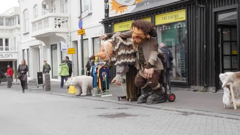 Iceland-Reykjavik-Buildings-And-Troll-Statue