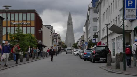 Iceland-Reykjavik-Cathedral-And-Main-Street