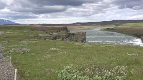 Iceland-Cliffs-Above-Gullfoss-Waterfall