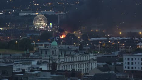 Northern-Ireland-Belfast-Eleventh-Night-Bonfire-And-Rise-Sphere-Sculpture-