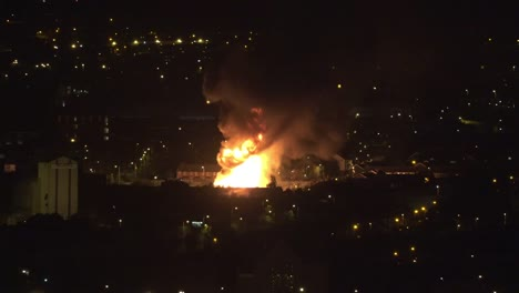 Northern-Ireland-Belfast-Giant-Eleventh-Night-Bonfire-Flame-And-Smoke-In-West-Belfast