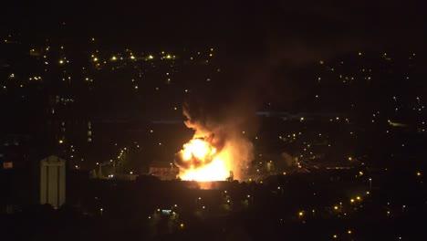 Northern-Ireland-Belfast-Giant-Bonfire-In-West-Belfast-On-Eleventh-Night