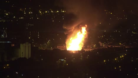Northern-Ireland-Belfast-Large-Eleventh-Night-Bonfire-In-West-Belfast