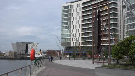 Northern-Ireland-Belfast-Titanic-Quarter-With-Art-Apartments-People-Museum