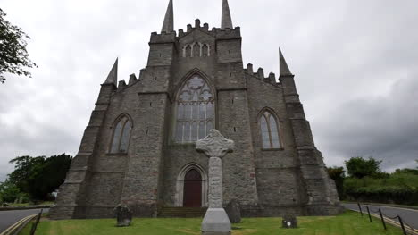Northern-Ireland-Down-Cathedral-With-High-Cross-Wide-Angle-