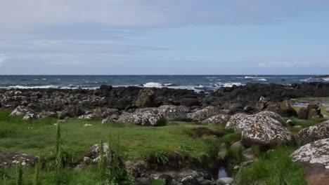 Northern-Ireland-Giants-Causeway-Coast-With-Tiny-Stream-Pan-And-Zoom