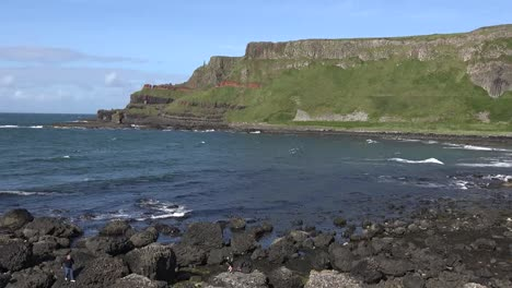Northern-Ireland-Giants-Causeway-Distant-Cliff-Views-Pan