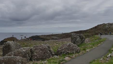 Northern-Ireland-Giants-Causeway-Path-Under-Dark-Cloud-