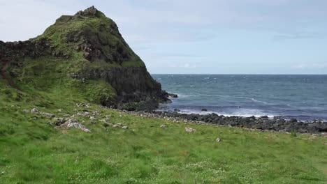 Northern-Ireland-Giants-Causeway-Pebble-Beach-With-Hill