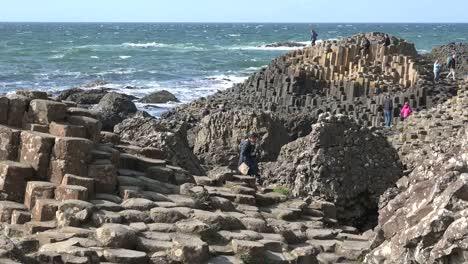 Northern-Ireland-Giants-Causeway-People-Exploring-At-Site-