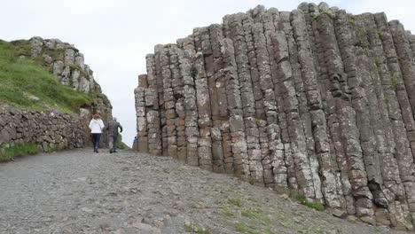 Northern-Ireland-Giants-Causeway-People-Walk-Up-Path-