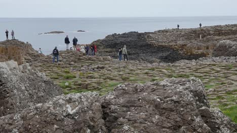 Northern-Ireland-Giants-Causeway-Tourists-Exploring-