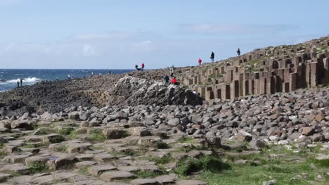 Northern-Ireland-Giants-Causeway-With-Hexagonal-Stones-In-Foreground-Pan