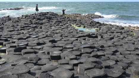 Northern-Ireland-Basalt-Columns-And-Sea-On-Giants-Causeway-