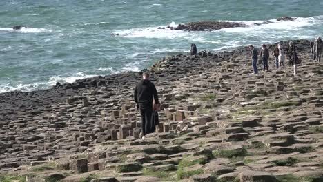 Northern-Ireland-Basalt-Columns-Leads-To-Sea-At-Giants-Causeway-