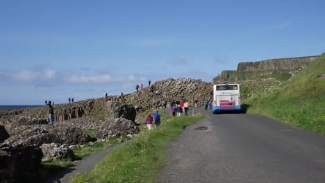 Northern-Ireland-Bus-On-Road-To-Giants-Causeway
